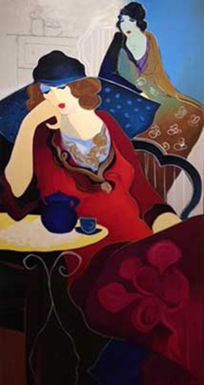 Tired At Tea II 2003 Limited Edition Print by Itzchak Tarkay