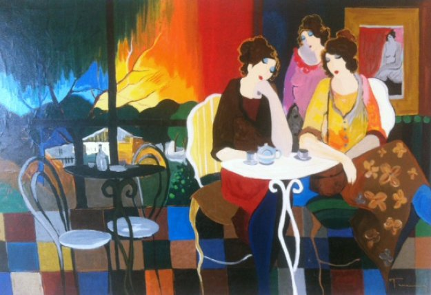 Sunset Over Haifa 1999 Limited Edition Print by Itzchak Tarkay