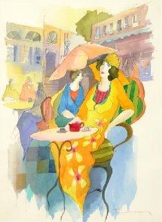 Untitled Watercolor 32x26 Watercolor by Itzchak Tarkay