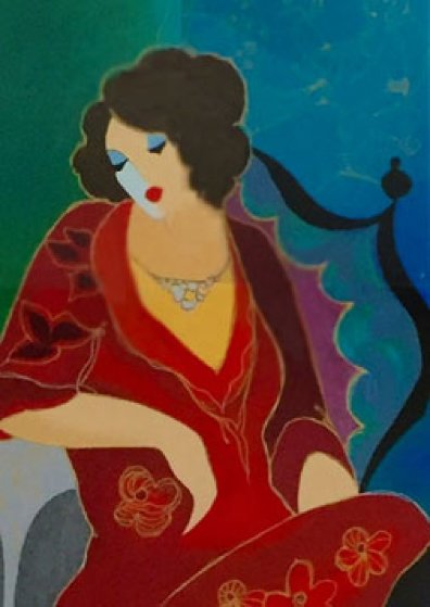 Lady in Red III 2000 Limited Edition Print by Itzchak Tarkay