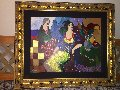 Terrie and Laura & Near A Victorian Table Limited Edition Print - Itzchak Tarkay
