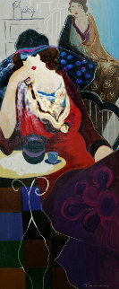 Tired At Tea Embellished 1998 Limited Edition Print by Itzchak Tarkay