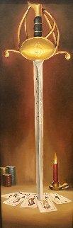 Royal Court 41x18 Original Painting - Glen Tarnowski