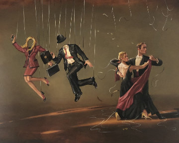 Look Listen Laugh Love: Life 61x72 Original Painting - Glen Tarnowski