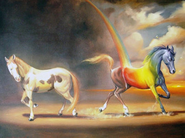 Defining Moment 2007 39x49 Super Huge  Original Painting - Glen Tarnowski