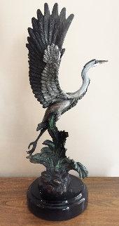 Gone Fishing Bronze Sculpture 1999 20 in Sculpture - Robert Taylor