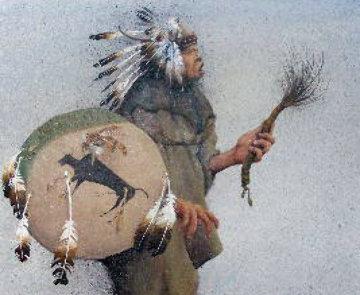 A Buffalo Tail 2001 28x24 Original Painting - Robert Taylor