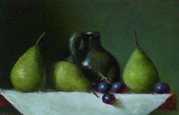 Seckle Pears 12x14 Original Painting - Louis Tedesco