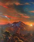 A Dream in My Twilight 1998 31x37 Original Painting - Dale Terbush
