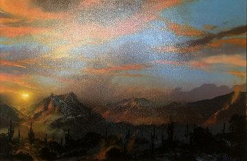 Long in the Faraway 41x53 Original Painting - Dale Terbush