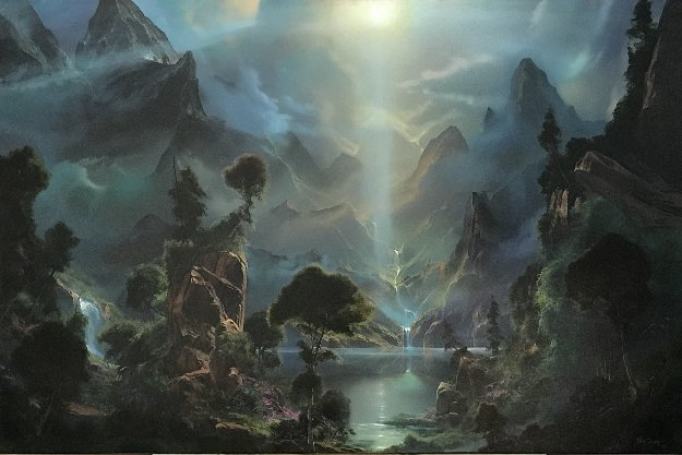Glory of the Light Within 1996 40x60 Super Huge Original Painting by Dale Terbush