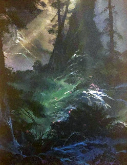 Forest Enchanted 1990 20x20 Original Painting - Dale Terbush