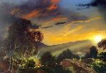 When Night Brings Out Her Jewels 37x49 Original Painting - Dale Terbush