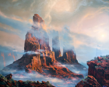 Red Rocks 1972 51x64 Original Painting by Dale Terbush