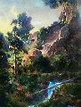 Where Be This Eden 1992 43x53 Original Painting - Dale Terbush