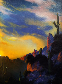 Southwest Glows in the Shadows 1992 25x29 Original Painting - Dale Terbush