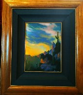Southwest Glows in the Shadows 1992 25x29 Original Painting by Dale Terbush - 3