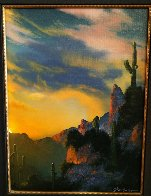 Southwest Glows in the Shadows 1992 25x29 Original Painting by Dale Terbush - 2
