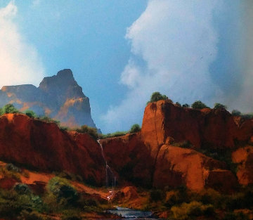 Grand Be This Quite Land 1992 37x43 Original Painting - Dale Terbush