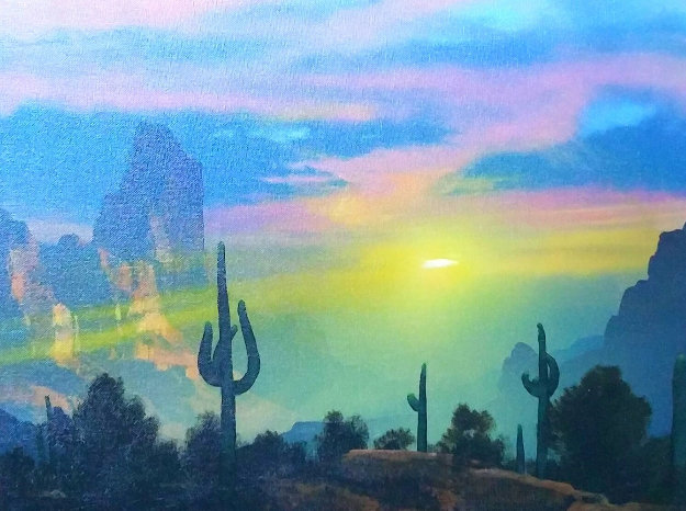 Southwest By My Way of Thinking 1991 29x33 Original Painting by Dale Terbush