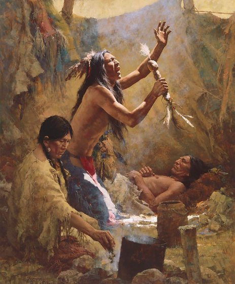 Medicine Man of the Cheyenne Limited Edition Print by Howard Terpning