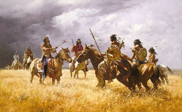Coffee Coolers Meet the Hostiles Limited Edition Print by Howard Terpning