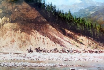 Moving Day on the Flathead 1981 AP Limited Edition Print by Howard Terpning
