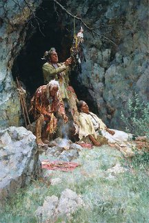 Healing Powers of the Raven Bundle 2003 Limited Edition Print by Howard Terpning