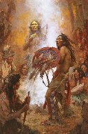 Transferring the Medicine Shield  AP Limited Edition Print by Howard Terpning - 0