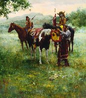 Medicine Horse Mask 2005  Limited Edition Print by Howard Terpning - 0