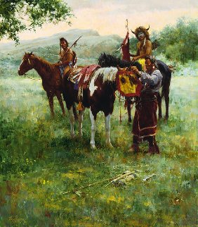 Medicine Horse Mask 2005  Limited Edition Print by Howard Terpning