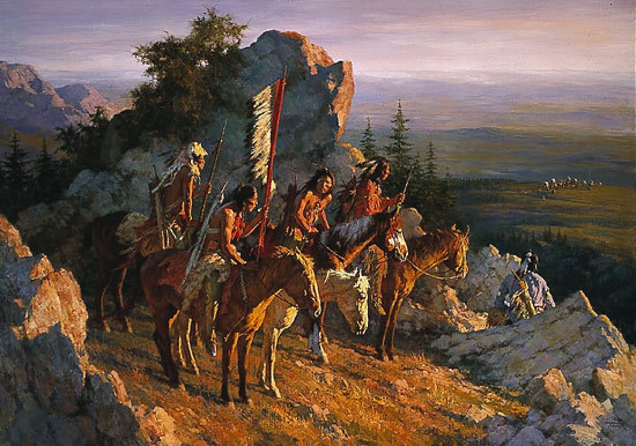 Gold Seekers to the Black Hills AP 1996 Limited Edition Print by Howard Terpning