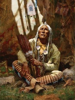 Holy Man of the Blackfoot 1997 Limited Edition Print by Howard Terpning