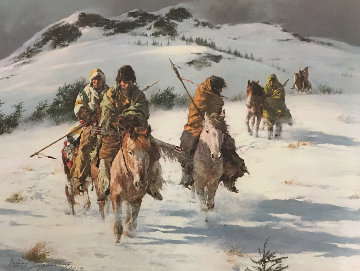 When Trails Turn Cold  AP 1973 Limited Edition Print - Howard Terpning
