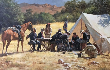 Field Headquarters Arizona   Teritory 1885 AP 1979 Limited Edition Print - Howard Terpning