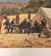 Field Headquarters Arizona   Teritory 1885 AP 1979 Limited Edition Print by Howard Terpning - 2