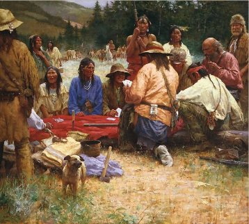 Friendly Game At Rendezvous 2005 Limited Edition Print - Howard Terpning