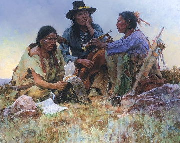 Found on the Field of Battle 30x38 Super Huge  Limited Edition Print - Howard Terpning