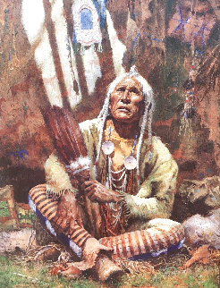 Holy Man of the Blackfoot 1997 Limited Edition Print - Howard Terpning