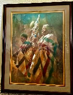 Thunder Pipe and the Holy Man 1986 Limited Edition Print by Howard Terpning - 1