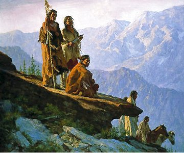 With Mother Earth 1995 Limited Edition Print - Howard Terpning