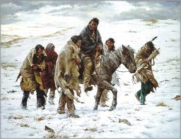 Chief Joseph Rides to Surrender 1982 Limited Edition Print - Howard Terpning