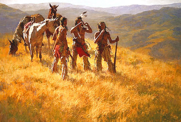 Dust of Many Pony Soldiers 1982 Limited Edition Print - Howard Terpning