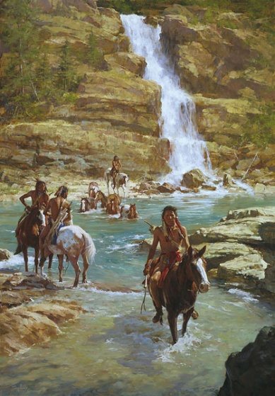 Vanishing Pony Tracks 2006 Limited Edition Print by Howard Terpning