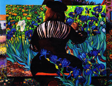 Painting Irises 1992 Limited Edition Print - Dr. T.F. Chen