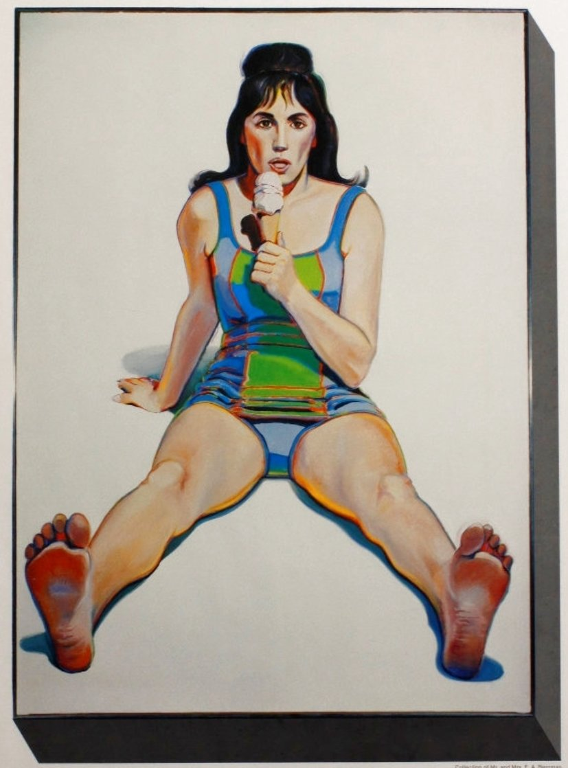 U.S.C. Exhibition Poster (Girl With Ice Cream Cone) 1977 HS Limited Edition Print by Wayne Thiebaud