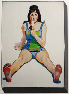 U.S.C. Exhibition Poster (Girl With Ice Cream Cone) 1977 Limited Edition Print by Wayne Thiebaud