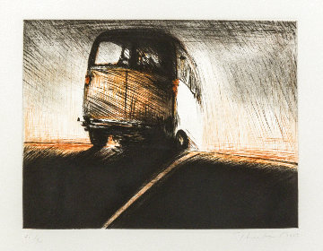 Van Color Drypoint Etching 1989 Limited Edition Print - Wayne Thiebaud