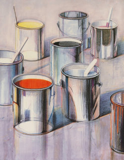 Paint Cans 1990 Limited Edition Print - Wayne Thiebaud