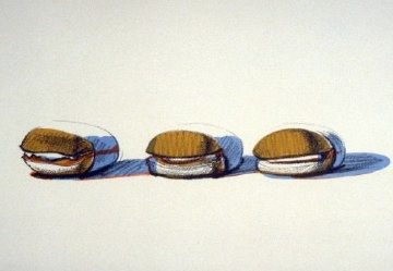 Barbeque Beefs 1970 Limited Edition Print - Wayne Thiebaud